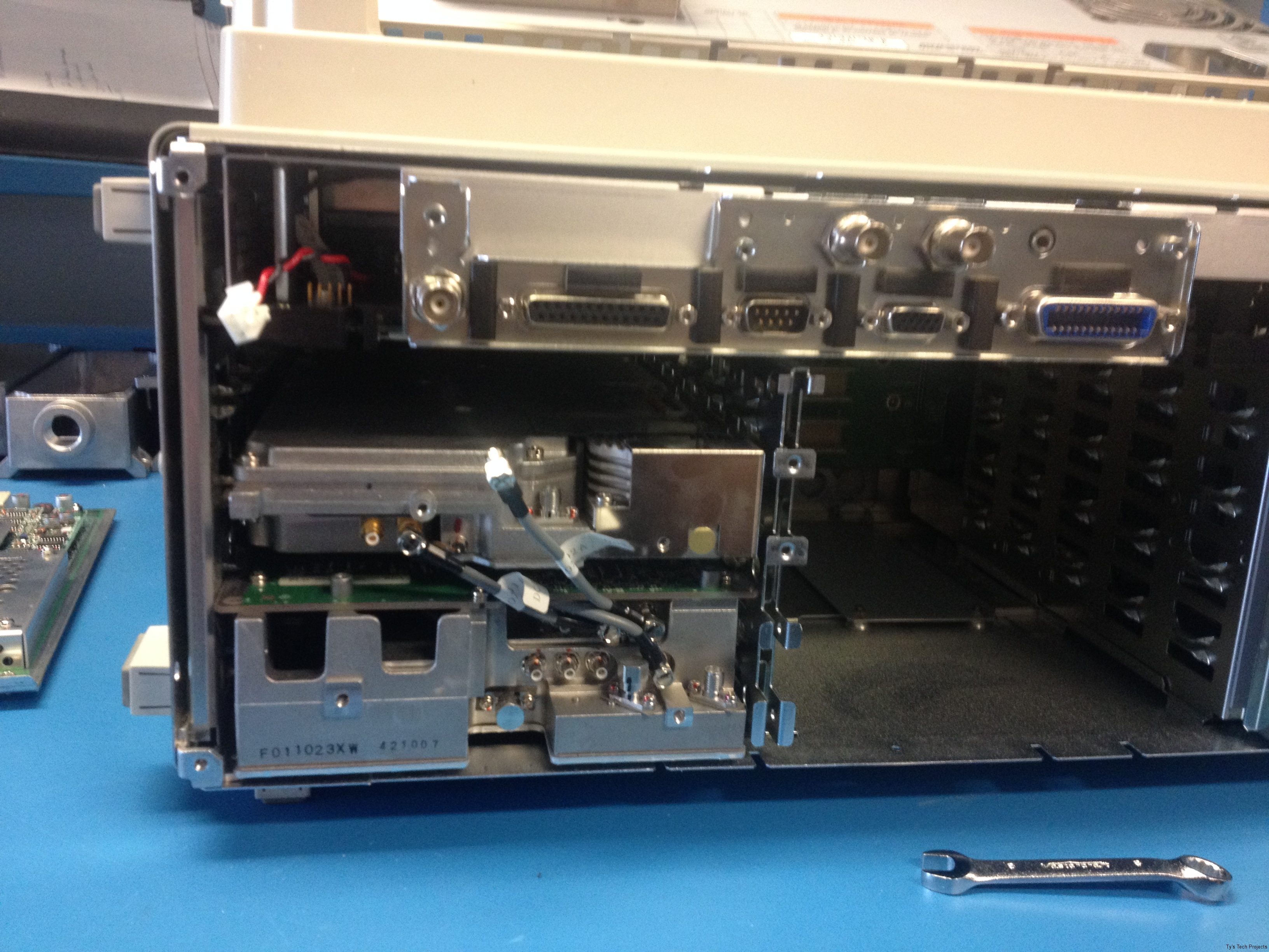 Back of chassis with ADC board removed