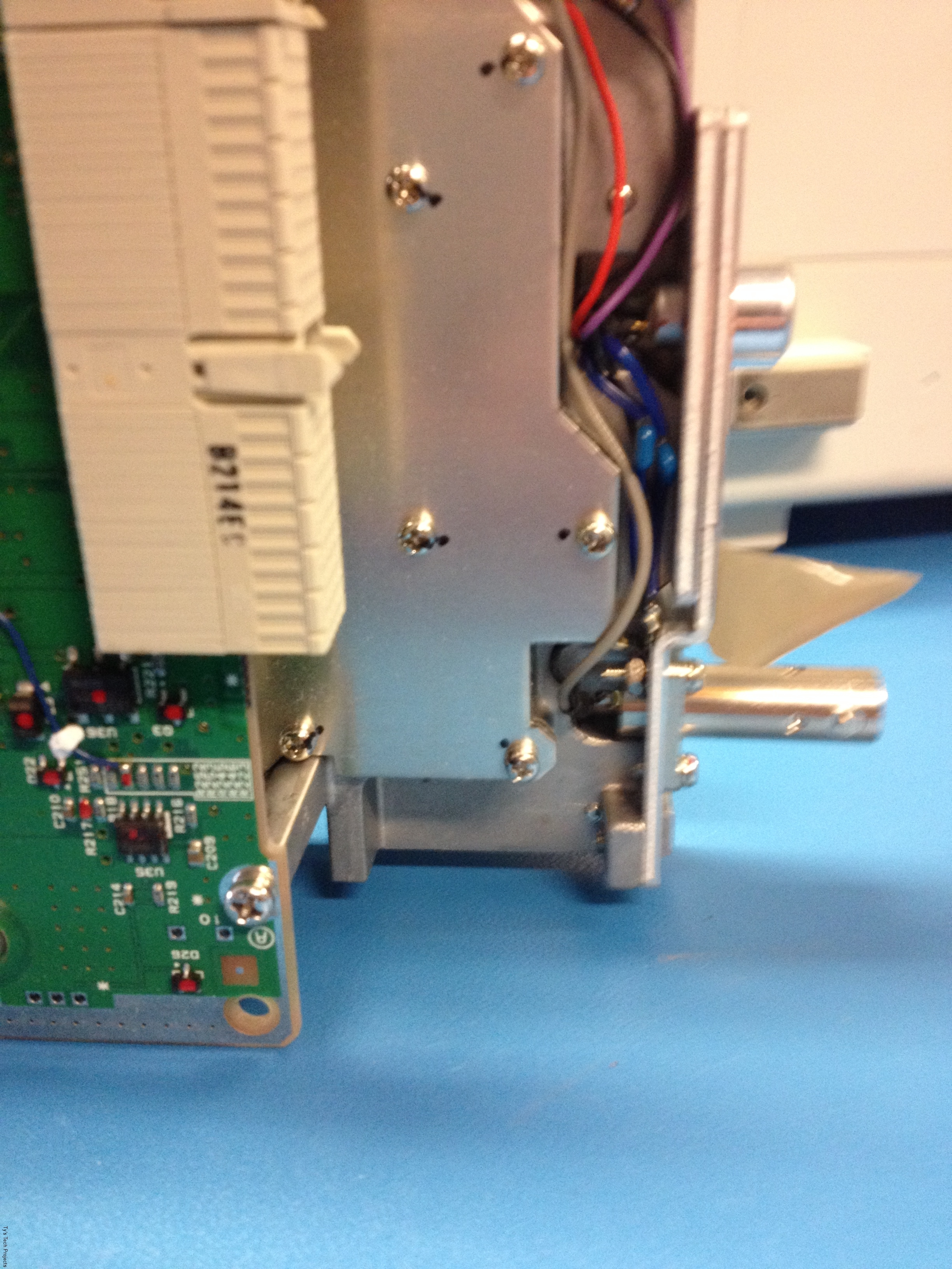 Underside of the board where the PLL circuit lives
