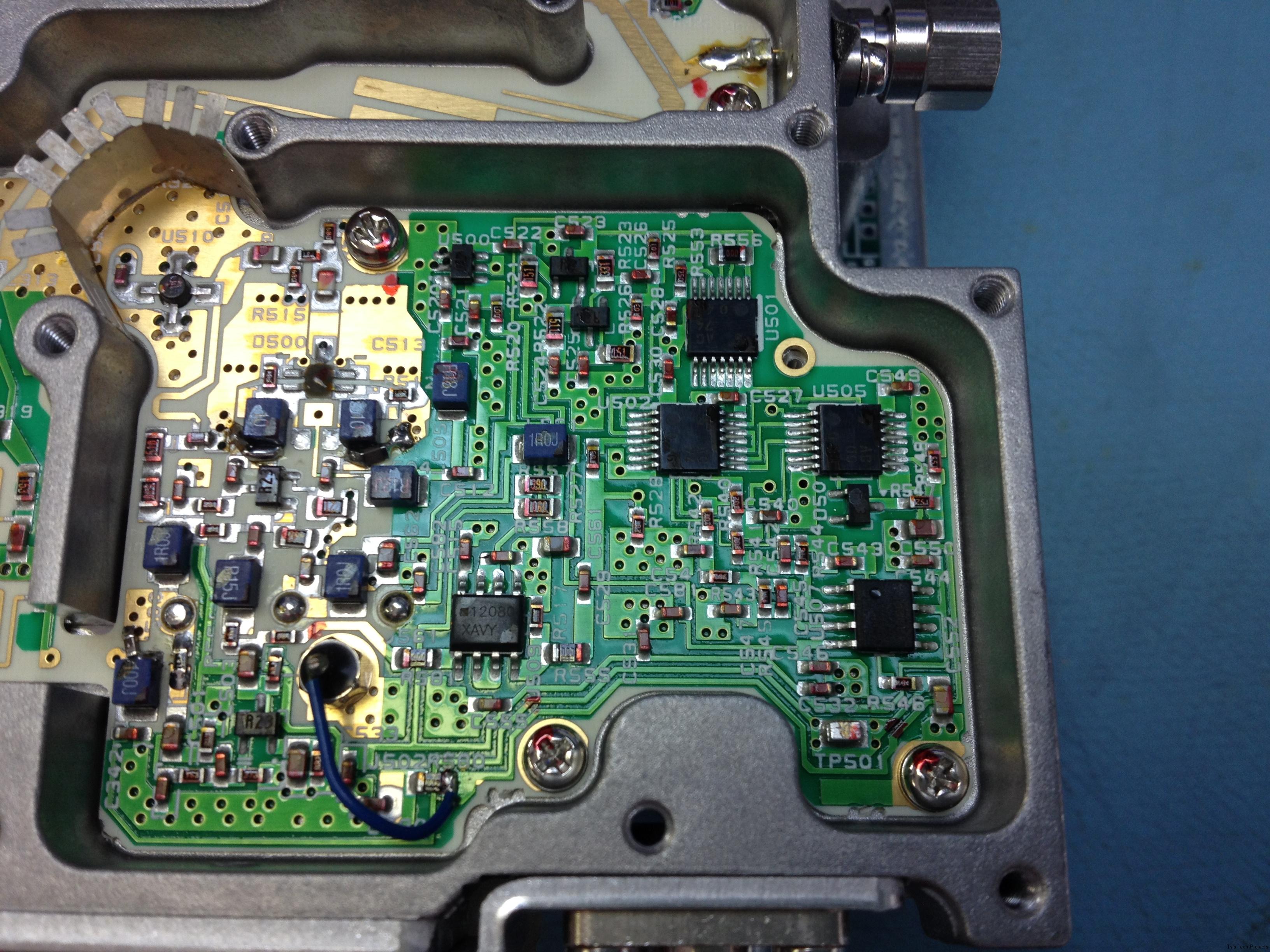 Closeup on the PLL circuit