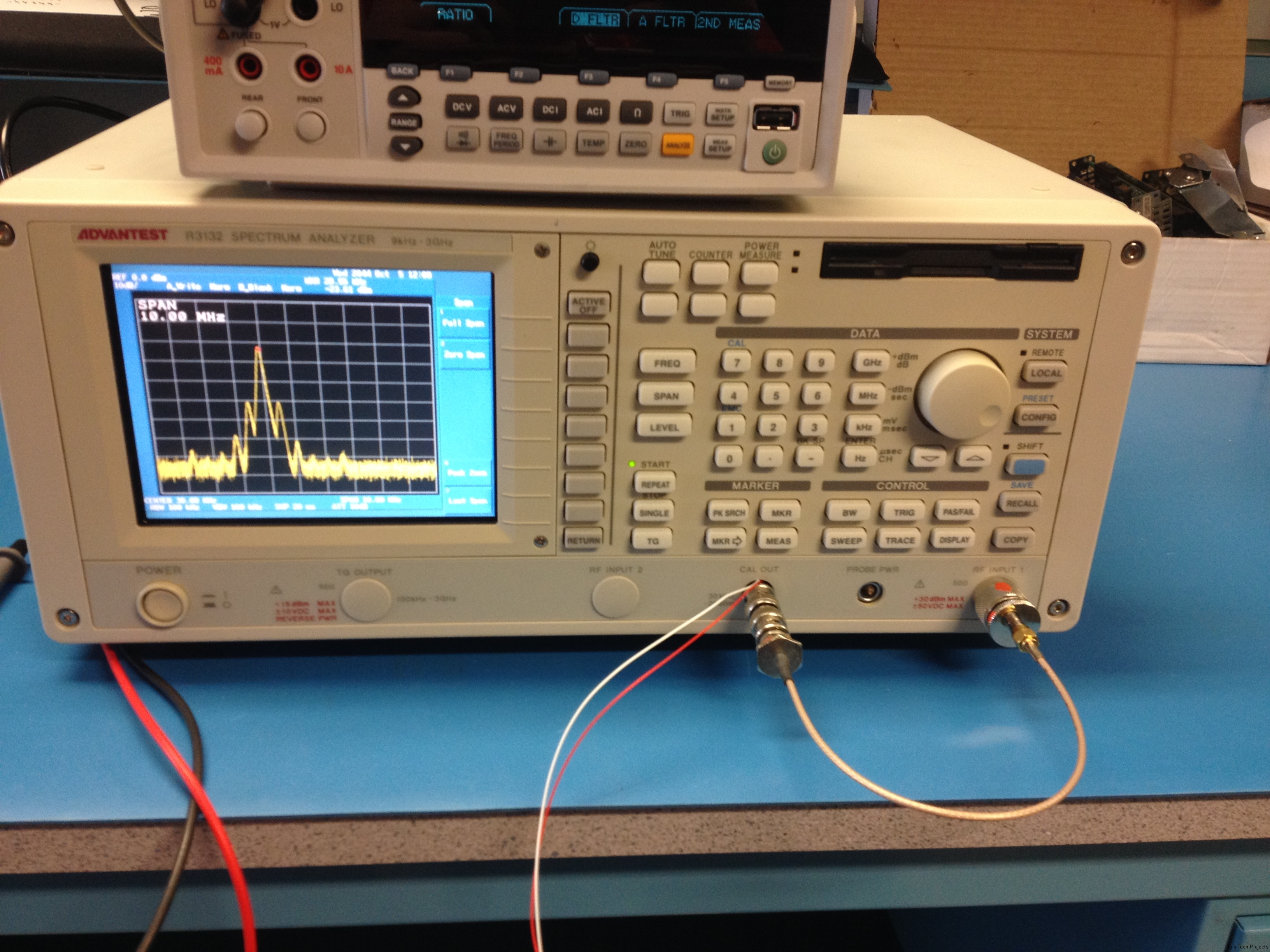 Reference measurement with wires in place looks terrible
