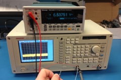 Measuring the VCO MMIC power supply